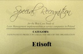 Etisoft HR Department -award