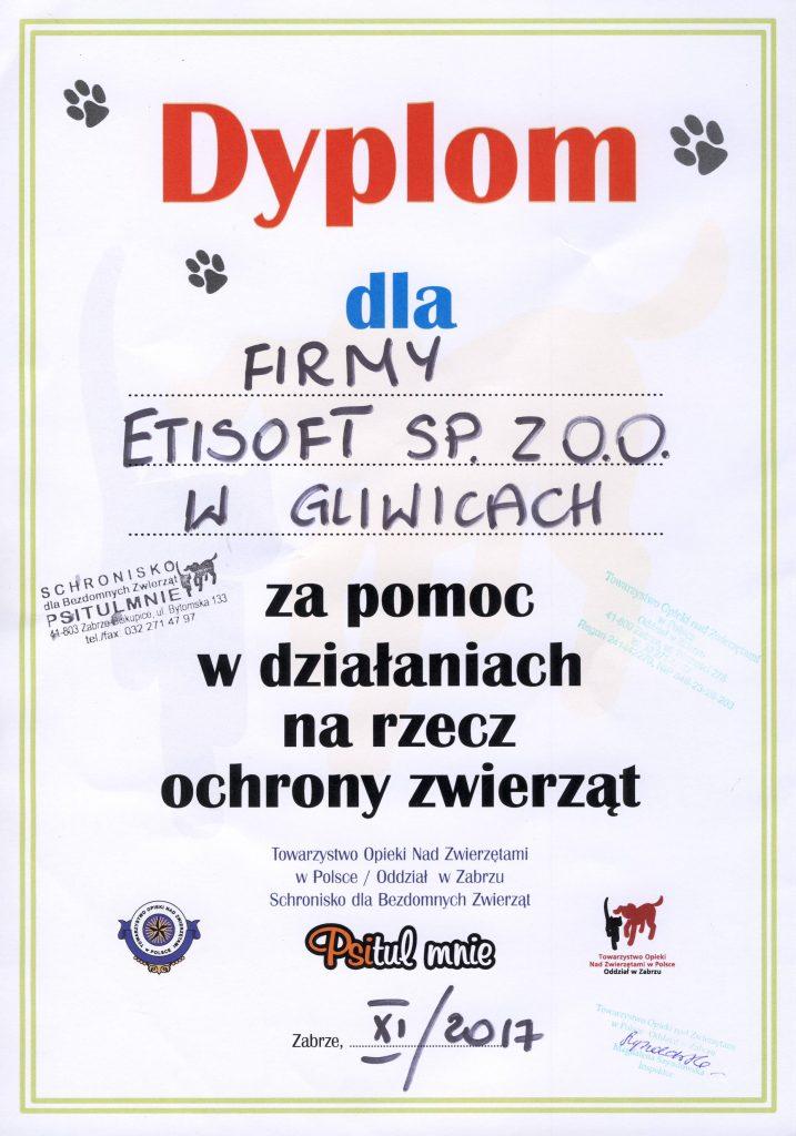 Dyplom dla Etisoft