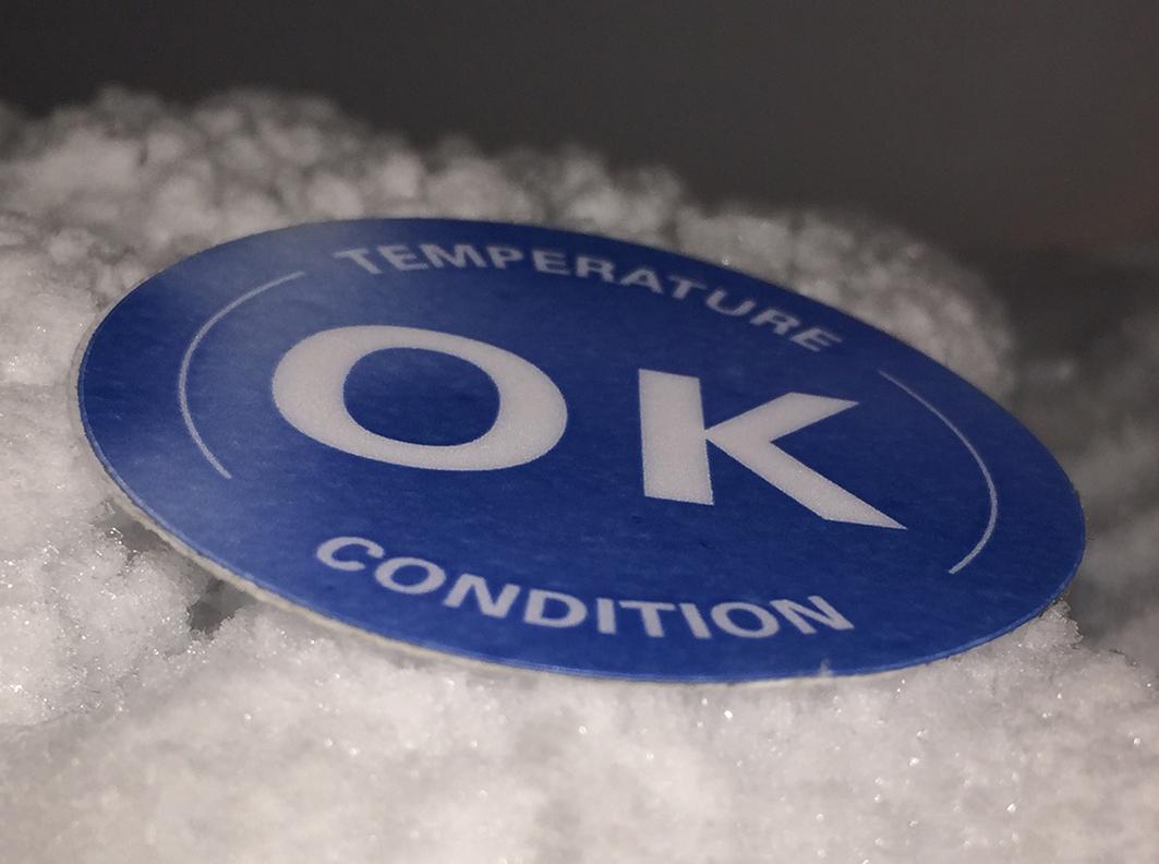 Kontrola temperatury podczas przechowywania czy transportu dzięki etykietom