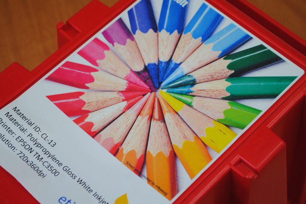 etykiety kolorowe drukarka Epson