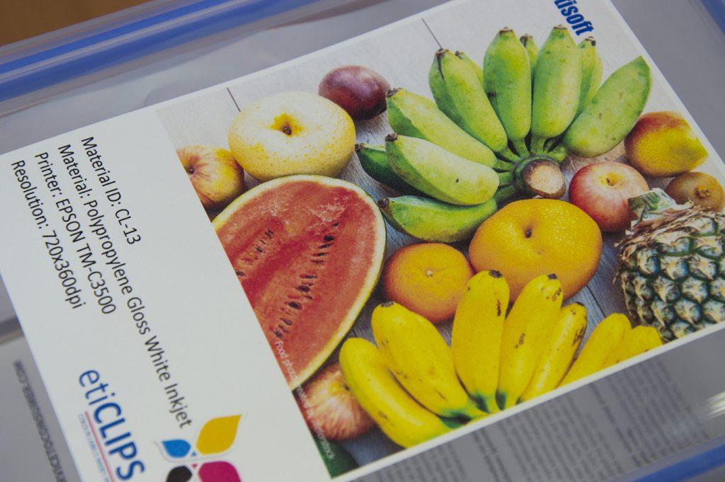 etykiety kolorowe polipropylen