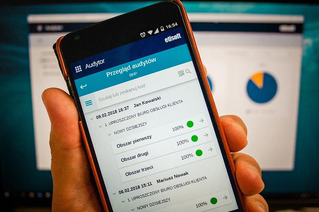 """Wymóg """"Audytora"""" to urządzenie mobilne z systemem operacyjny Android lub iOS"""