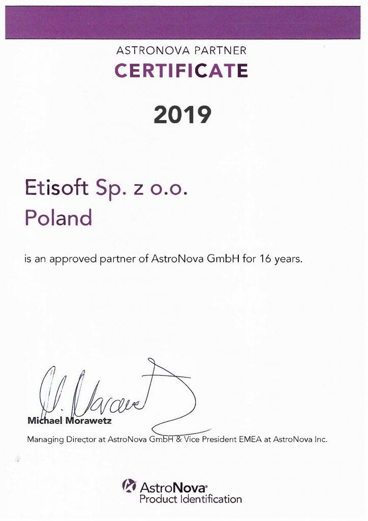 Etisoft- partner AstroNova