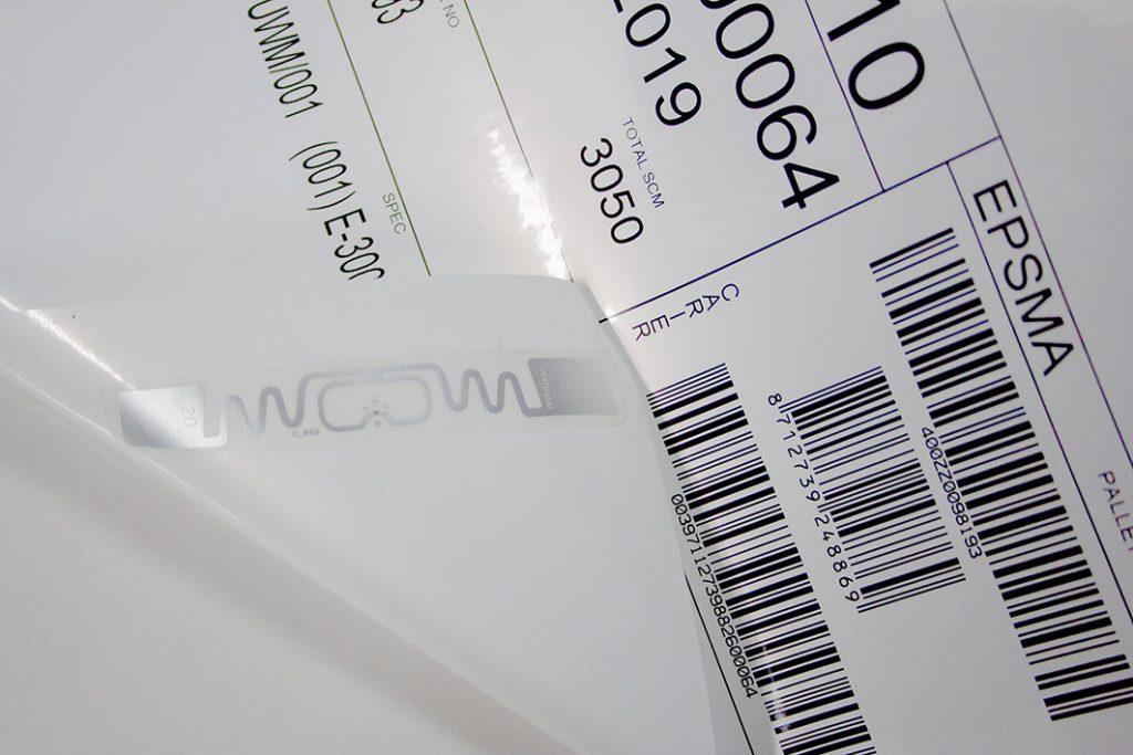 etykieta logistyczna ze znacznikiem RFID