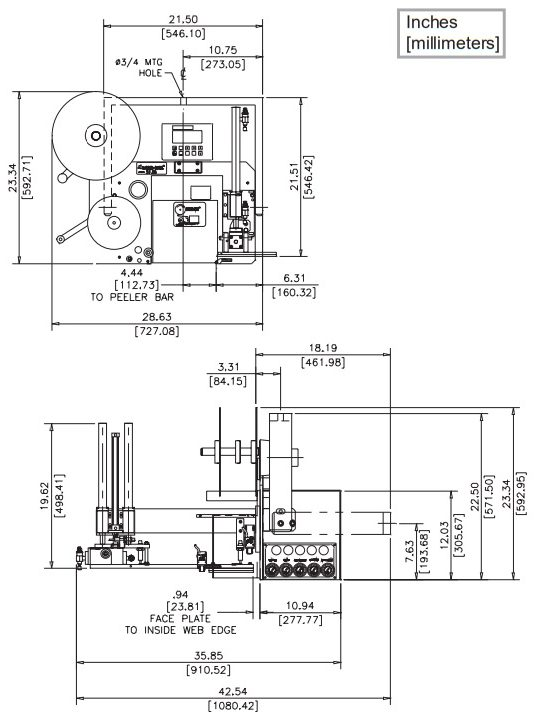 Parametry techniczne aplikatora LA3138 N-Swing Arm i DAT
