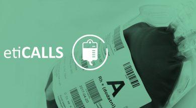 etykiety z niemigrującym klejem na worki z krwią