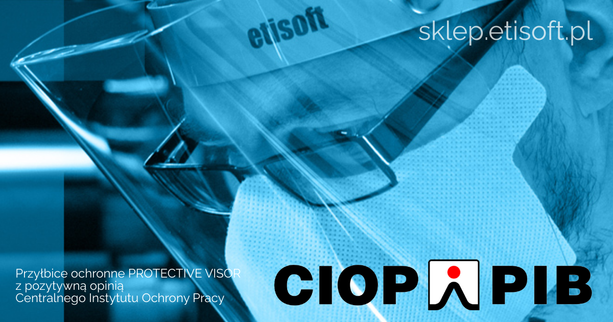 Nasze przyłbice z certyfikatem CIOP!
