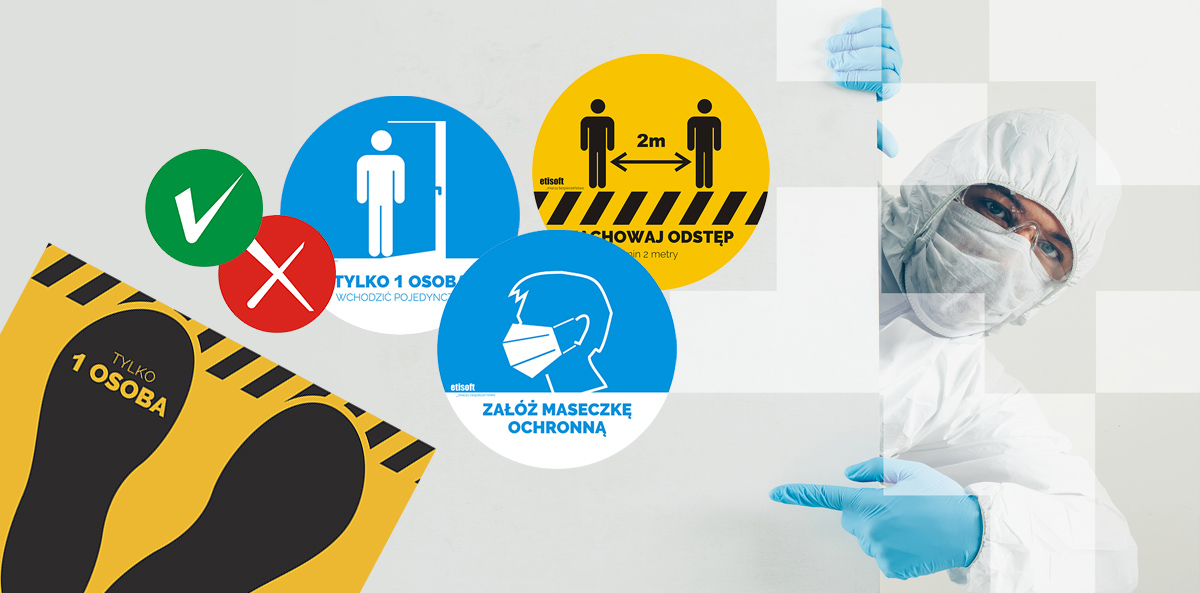 Etykiety informacyjne i ostrzegawcze sposobem na bezpieczną przestrzeń