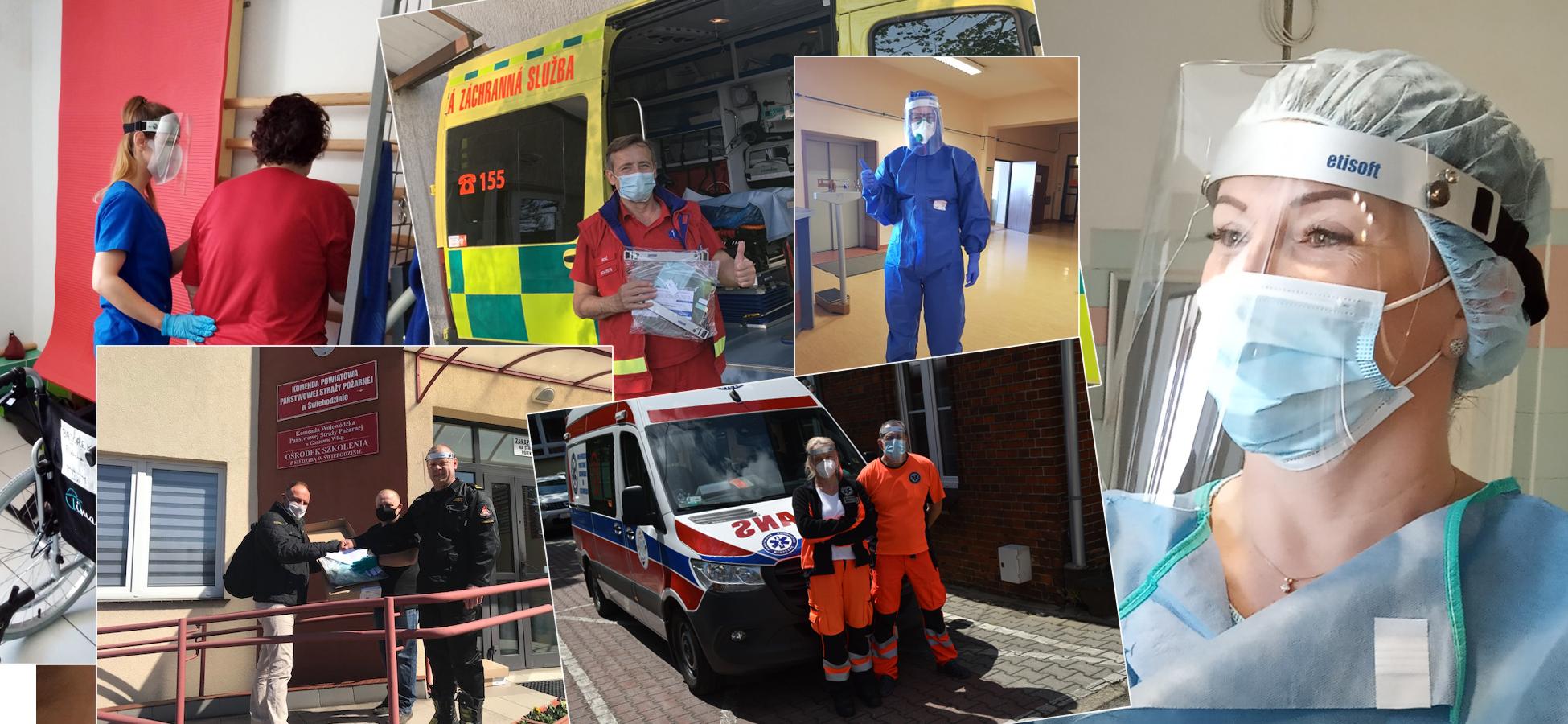 Placówkom służby zdrowia i nie tylko rozdaliśmy około tysiąca przyłbic ochronnych