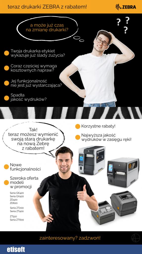 drukarka zebra w promocji